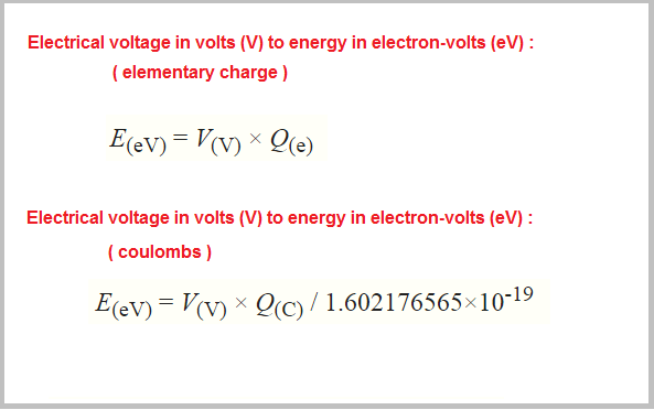Volts To Electron Calculator