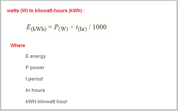 Units = power x time (kwh) kw x hour electrical = power x time.