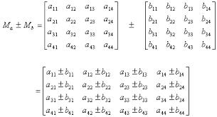 4x4 matrix addition calculation. Black Bedroom Furniture Sets. Home Design Ideas
